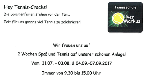 Tennis Flyer Sommercamps 2017klein